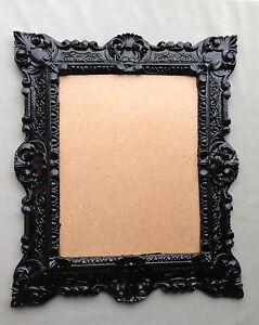 Cadre Noir Rectangulaire Baroque Cadre D Image Ancien 44x38 Cadre