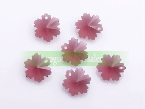 14mm Butterfly//Heart//Flower Faceted Hanging Pendants Crystal Glass Loose Beads