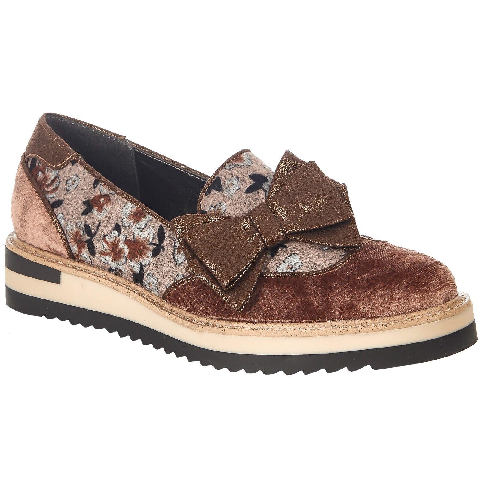 Señoras Ruby Shoo Shoo Shoo Joanne Visón Floral Slip On Brogue Zapatos 09260  buen precio