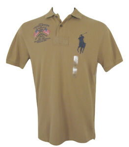 d4e0d061 Details about NEW! Polo Ralph Lauren Classic Fit Big Pony Polo Shirt! *USA  Flag* *4 Colors*
