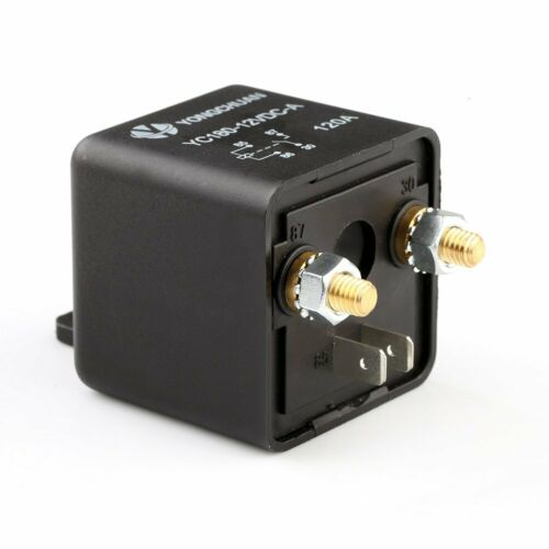 4-Pin Dc 12v 120 Amp 120a Heavy Duty Split Charge Relay On//Off Van Car Boat
