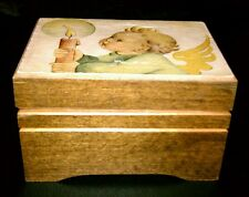 "VINTAGE REUGE WOODEN SWISS MUSICAL BOX, ""JINGLE BELLS"""