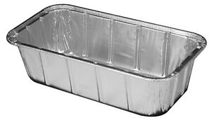 Handi-Foil 1 1/2 lb. Aluminum Foil Loaf Pan 100/PK - Disposable Bread Baking Tin
