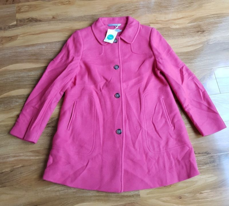 BODEN LADIES GORGEOUS EMILIE Wool Mix Coat. UK size 14 WE516. BRAND NEW RRP