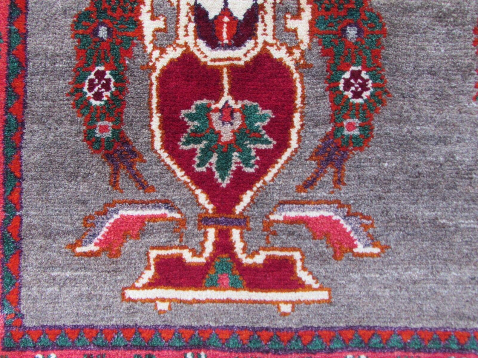 Tradicional Old hecha lana a mano de lana hecha persa oriental Marrón  Rojo  Alfombra Gabbeh 178x102cm 7d2af2