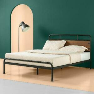 Zinus Santa Fe Wood And Metal 12 Inch Platform Bed