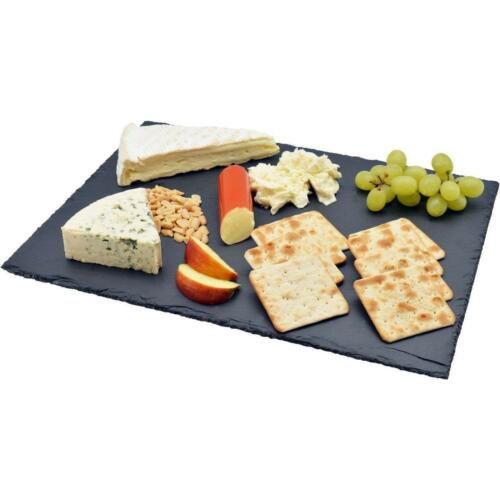 Slate Cheese Board Chopping Cutting Serving Tray Dining Plate Platter Anti Slip
