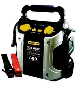 new stanley 300amp w 12v usb jump starter built in 120 volt ac charger sta j309 ebay. Black Bedroom Furniture Sets. Home Design Ideas