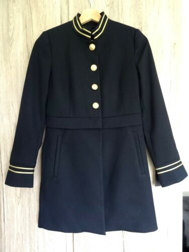 Xs Jacket Military Navy Zara Buttons With Gold Coat Frock Style Size 7vIAWnAwqP