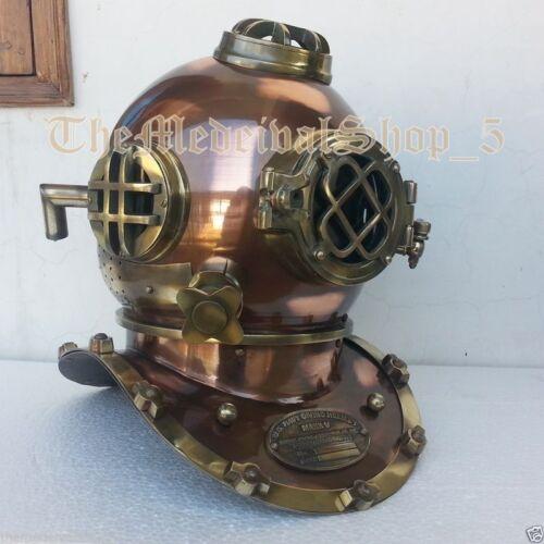 Details about  /Nautical Brass Diving Helmet Mark V Boston Navy Divers Marine Antique Deep Sea