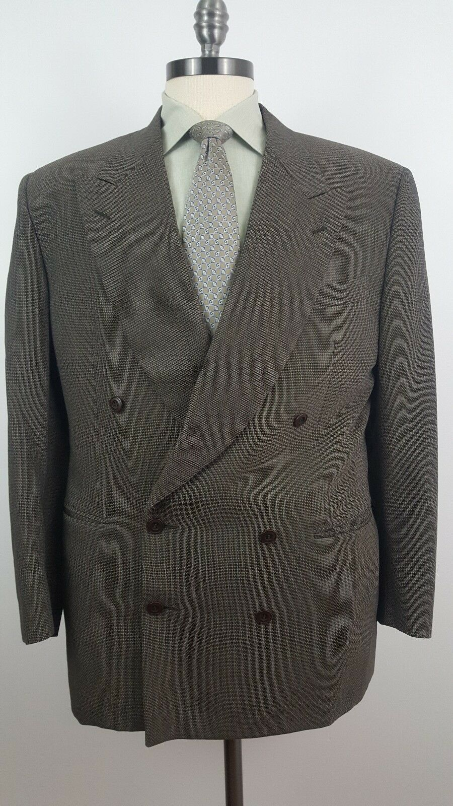 CANALI  PROPOSTA Size 50R (40R Us) Brown Double Breasted Pure Wool Suit