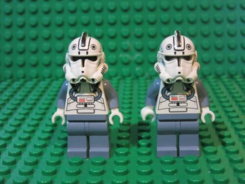 Lot of 2 Lego STAR WARS minifigures Clone Pilot 7259 6205 minifigs G