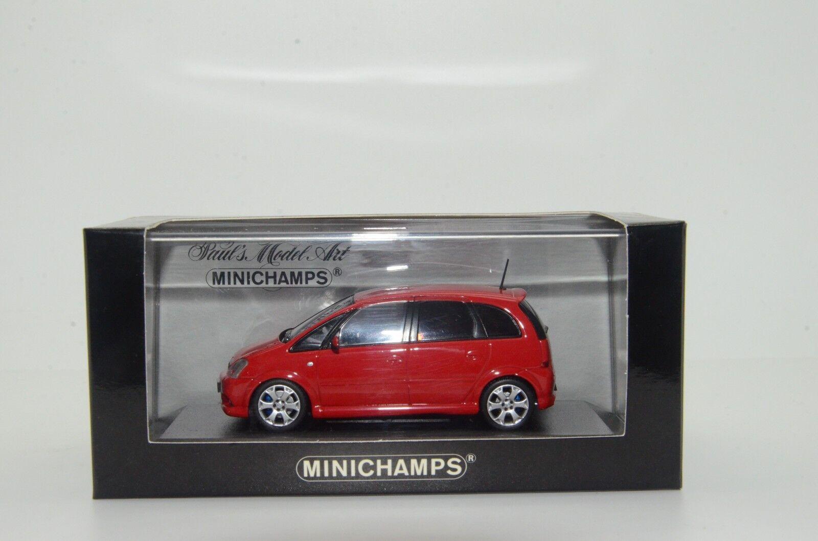 rara    OPEL MERIVA MERIVA MERIVA OPC 2006 Rojo Minichamps 46000 1 43 be0398
