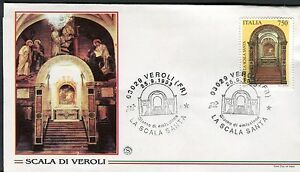 Hearty Italy 1993 Holy Stairway Veroli/basilica/art/architecture/artistic Heritage Fdc Stamps