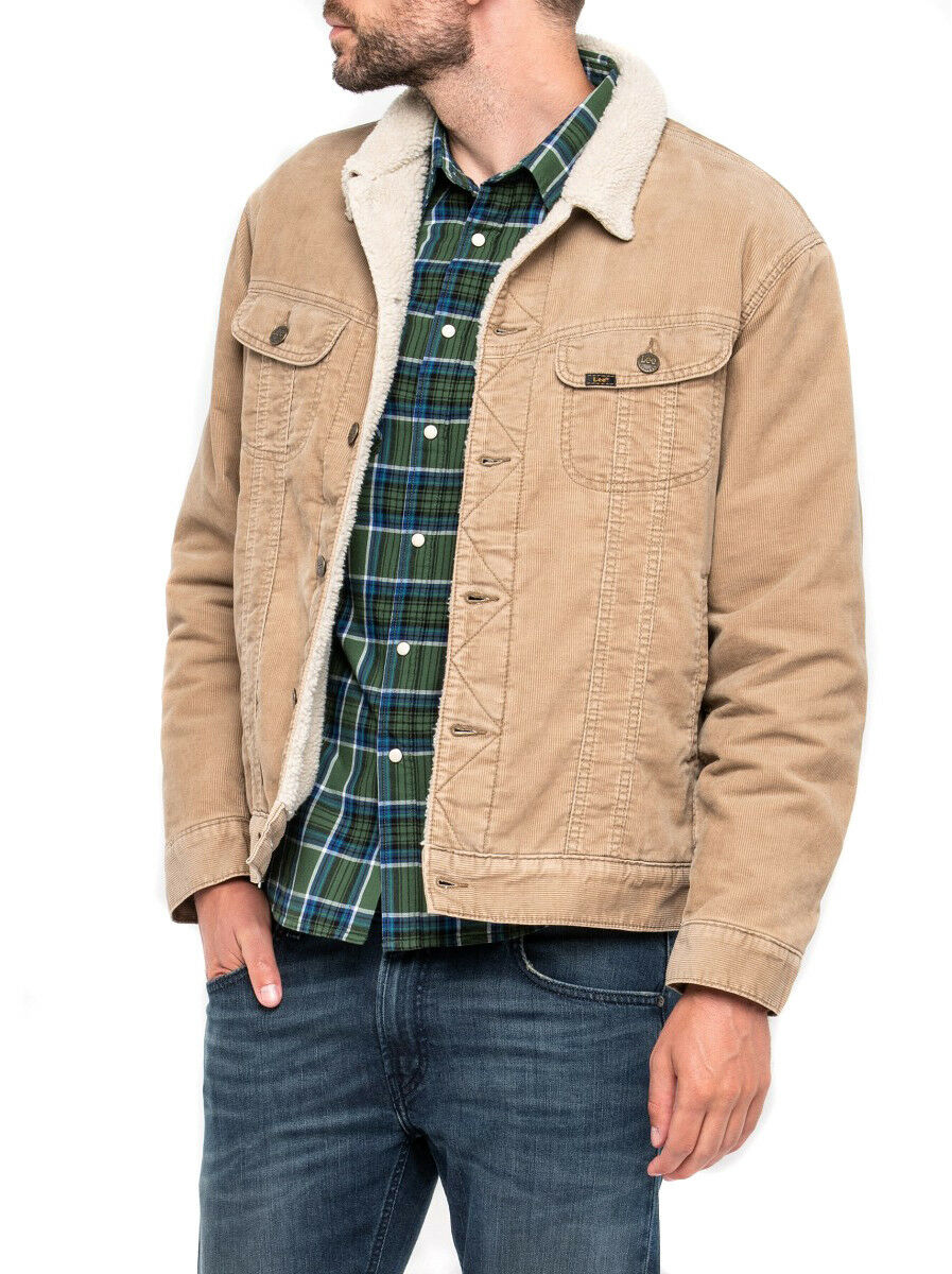 Lee Micro Corda Sherpa Icons Storm Rider Giacca Antilope Beige Offerta