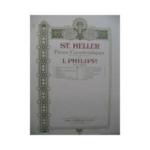 HELLER-Stephen-Aveu-Piano-1903-partition-sheet-music-score