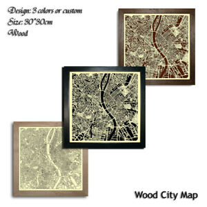 Wood-City-Map-Budapest-Hungary-Decor-Picture-Town-Village-Laser-Cut-Wall-Art