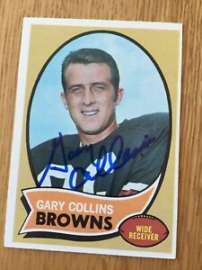 Browns Gary Collins signed 1970 Topps Card