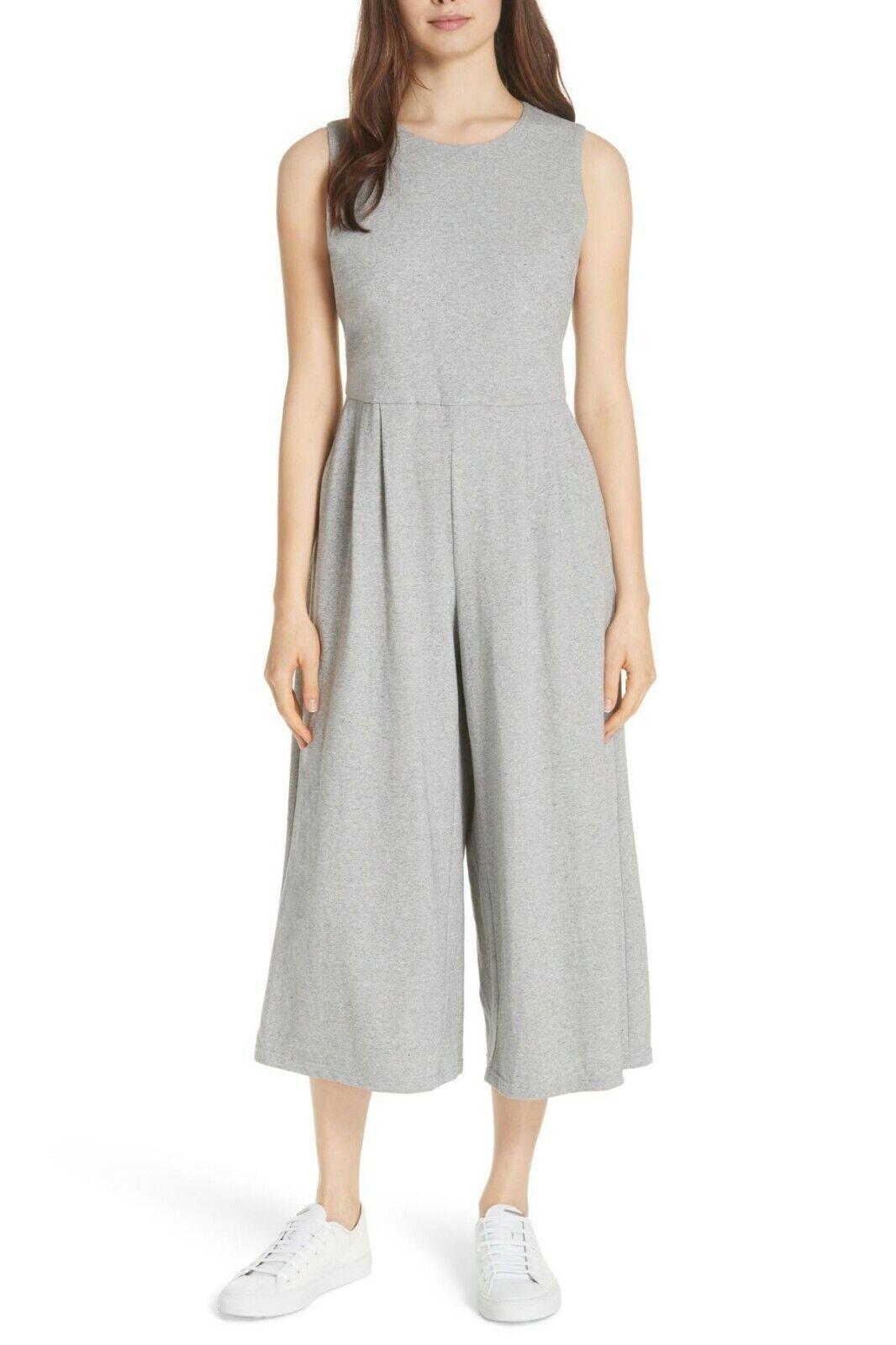 Eileen Fisher Moon Crop Baumwolle Knit Jumpsuit Größe X-Smtutti Orig  278
