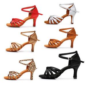 Brand-Women-Girl-lady-039-s-Ballroom-Tango-Latin-Dance-Shoes-Dancing-Shoes-heeled