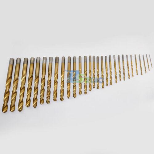 6.2mm 1 Pc Titanium Coated Profestional Straight Shank Twist HSS Drill Bits New