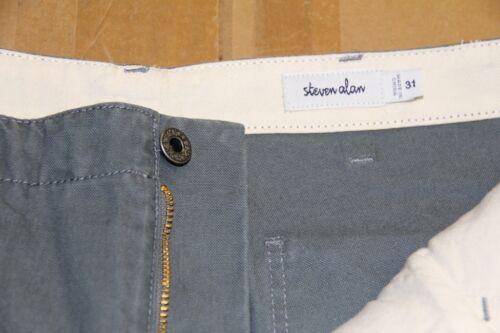 STEVEN ALAN Men/'s Light Blue 100/% Cotton Casual Layman Pant MPT01CT Size 31 $200