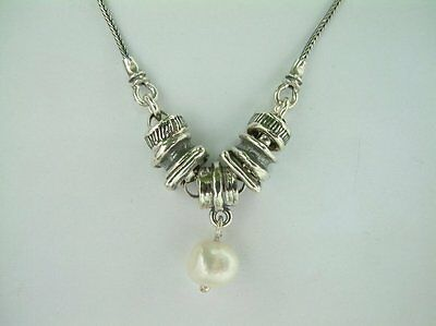 N01146SP SHABLOOL ISRAEL Didae Handcrafted FW Pearl Sterling Silver 925 Necklace