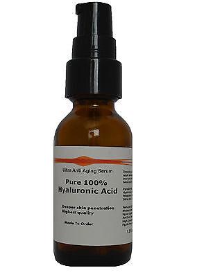 Pure 100% Hyaluronic Acid Ultra Firming Anti Aging Serum 1.2oz
