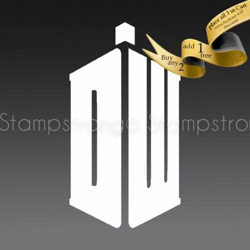 3 Inch DOCTOR WHO TARDIS LOGO decal sticker vinyl Die Cut 208 2x