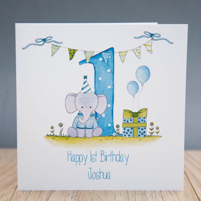 Handmade Personalised Boys 1st Birthday Card First Ebay