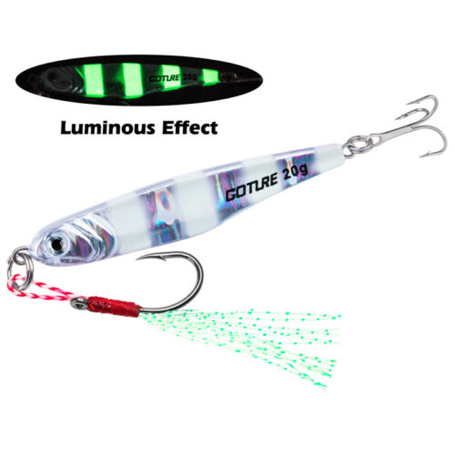 Goture Metal Jig 15g 20g 30g 3D Eyes Casting Jigging Lead Fish Hard Bait Lures