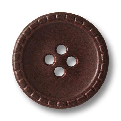 5883rb 5 brun rouge chiné vierloch Plastique Boutons avec décorée bord