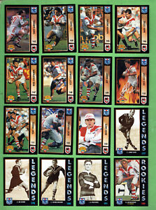 1994-SERIES-1-RUGBY-LEAGUE-CARDS-ST-GEORGE-DRAGONS