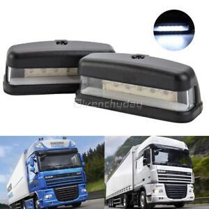 2X-12V-6-LED-Luces-Traseras-Licencia-Numero-De-Matricula-Lampara-Camion-Caravana-Remolque-De-Calidad