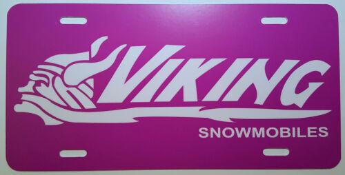 Vintage Viking Snowmobile Logo Novelty License Plate