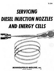 s l300 minneapolis moline tractor diesel injection and energy cells service