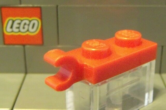 Modified 1 x 2 w Clip Horizontal on End 63868 DK BL GRAY 5 Plate LEGO Parts~