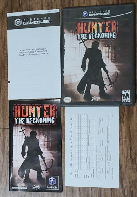 Hunter - The Reckoning (Nintendo GameCube, 2002)- Complete with Manual & Card