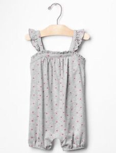 Baby Girls 3-6months Baby Gap Pink Romper Logo Print One-pieces Baby & Toddler Clothing
