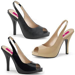 Elegant verniciata rosso 39 47 crema nero Slingbacks Heels Look in pelle Gr High 04 Eve 5xq8RR