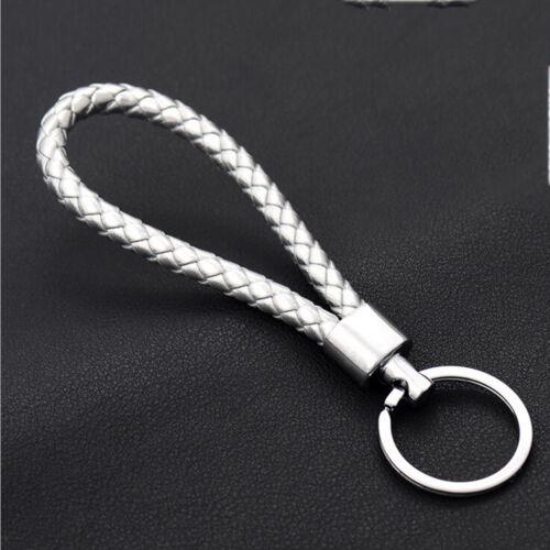2017 Fashion Men Leather Key Chain Ring Keyfob Car Keyrings Keychain Gifts SK