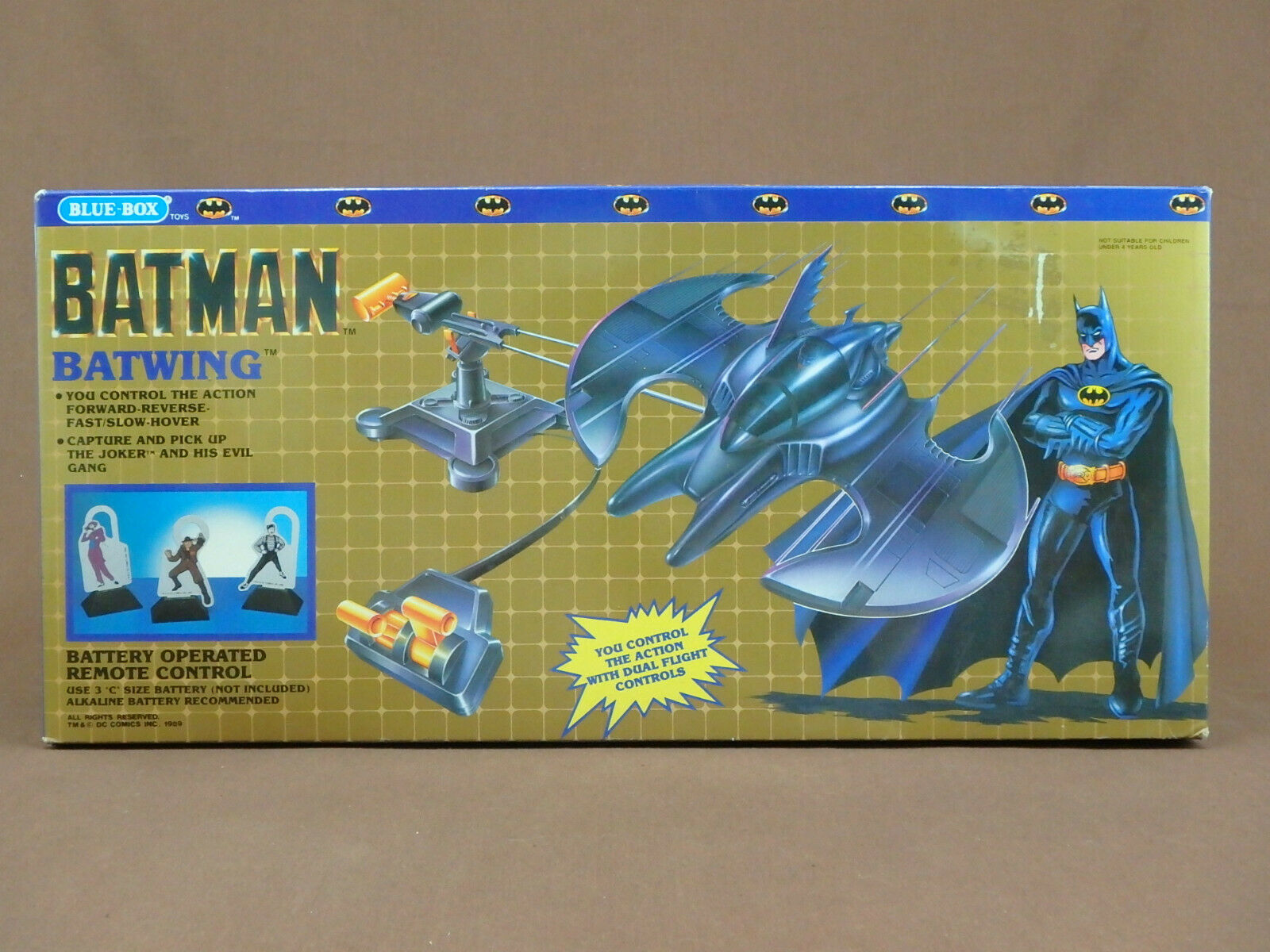 BATMAN 1989 MOVIE BATWING blueE BOX greenIBIRD TYPE PLAYSET VERY HARD TO FIND