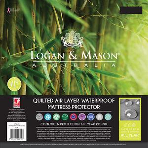 Logan And Mason Quilted Air Layer Waterproof Mattress Protector