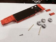 ULRICH 1/87 HO SCALE ORANGE  EQUIPMENT TRAILER WITH BEAVER TAIL & RAMPS