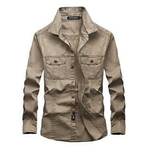Men-039-s-Military-Army-Security-Outdoor-Tactical-Work-Shirt-Long-Sleeve-Slim-Shirt