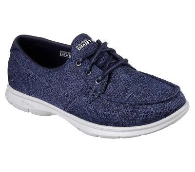 NEU SKECHERS Damen Canvas Sneakers Bootsschuh Schnürschuh GO