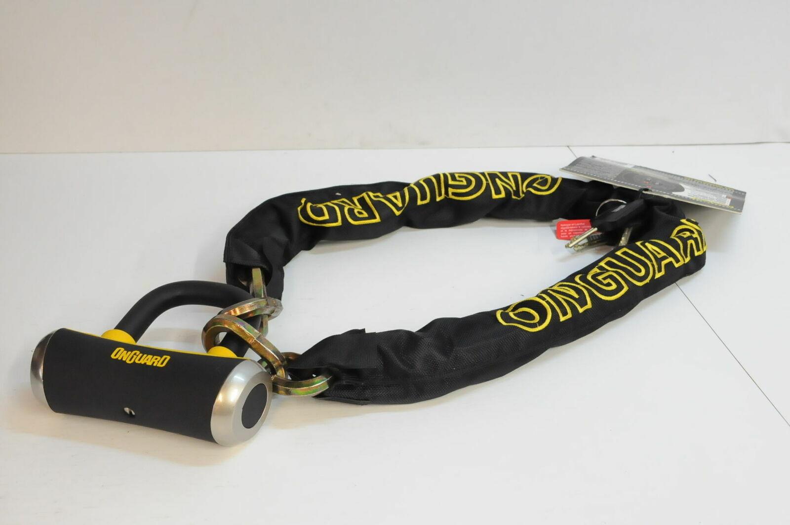Kette Lock mit X4 Vorhängeschloss Bügelschloss Onguard Beast 18-HX5208 135