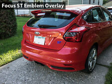 2x 2013 Ford Focus ST / Fiesta ST Front / Rear Emblem Overlay - Various Colors