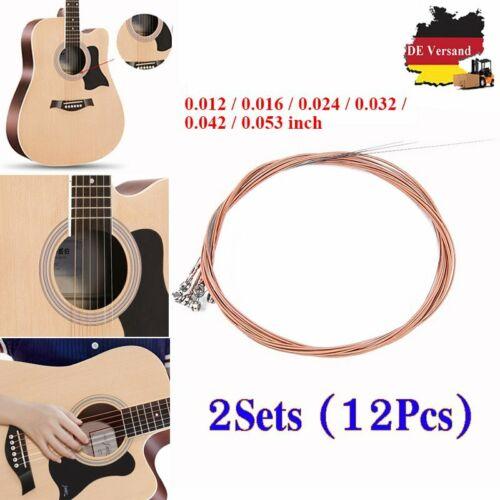 2 Satz Akustik Gitarrensaiten Stahlsaiten 12x Guitar Strings For Acoustic Guitar