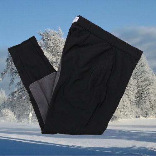 schwarz-grau Winter Thermo Reithose Softshell Reithose Scharenberg